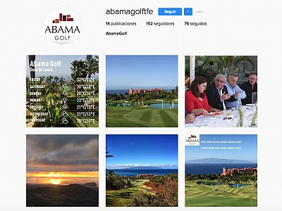 Abama Golf is now active on the most relevant Social Media Networks